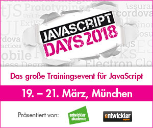 JavaScript Days März 2018